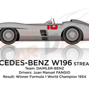 Mercedes-Benz W196 Streamliner Formula 1 Champion 1955 with Fangio
