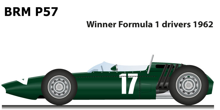 BRM P57 Formula 1 Champion 1962 with Graham Hill