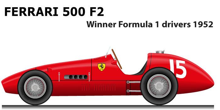 Ferrari 500 F2 winner Formula 1 Champion 1952 with Alberto Ascari