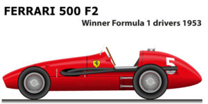 Ferrari 500 F2 winner Formula 1 Champion 1953 with Alberto Ascari