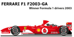 Ferrari f1 f2003-ga winner formula 1 champion 2003 with Schumacher