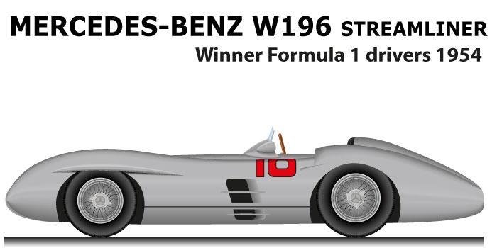 Mercedes-Benz W196 Streamliner Formula 1 Champion 1955 with Fangio