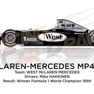 Image McLaren - Mercedes Benz MP4/14 n.1 winner Formula 1 World Champion 1999