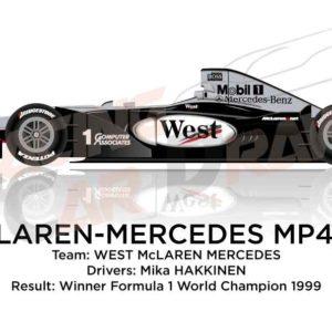 Image McLaren - Mercedes Benz MP4/14 n.1 winner Formula 1 World Champion 1999