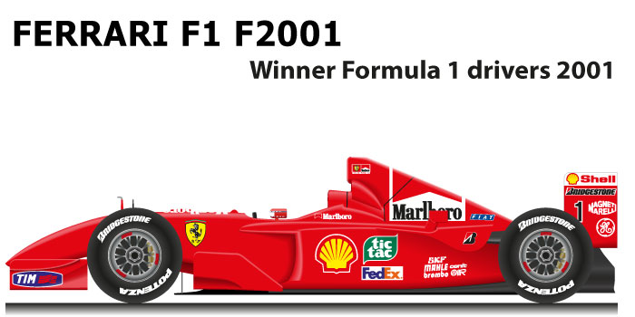 Ferrari F1 F2001 Formula 1 Champion 2001 with Michael Schumacher