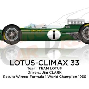 Lotus - Climax 33 n.1 winner Formula 1 World Champion 1965