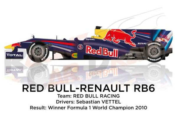 Red Bull Renault RB6 n.5 Formula 1 World Champion 2010 with Vettel