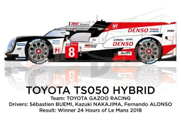Image Toyota TS050 Hybrid n.8 winner 24 Hours of Le Mans 2018