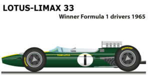Lotus Climax 33 Winner Formula 1 Champion 1965 with Clark