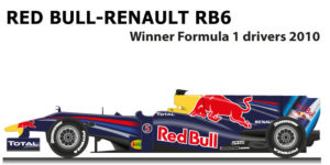 Red Bull Renault RB6 n.5 Formula 1 World Champion 2010 with Vettel