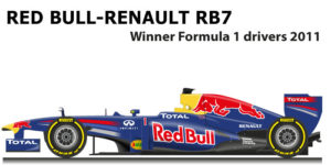 Red Bull Renault RB7 n.1 Formula 1 World Champion 2011 with Vettel