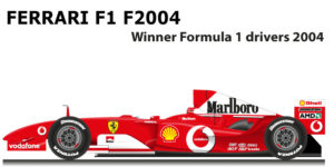 Ferrari F1 F2004 n.1 winner Formula 1 World Champion with Schumacher