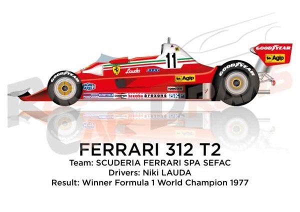 Ferrari 312 T2 n.11 winner Formula 1 World Champion 1977