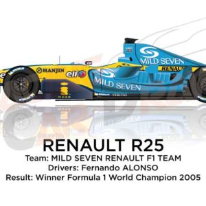 Renault R25 n.5 winner Formula 1 World Champion 2005