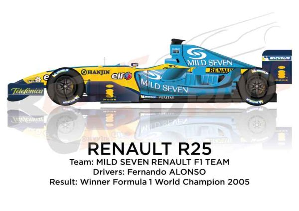 Renault R25 n.5 winner Formula 1 World Champion 2005