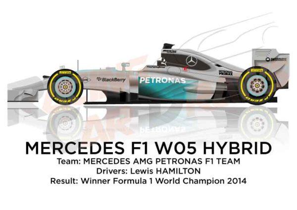 Mercedes F1 W05 Hybrid n.44 winner Formula 1 World Champion 2014