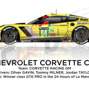 Chevrolet Corvette C7.R n.64 winner class GTE PRO 24 hours of Le Mans 2015