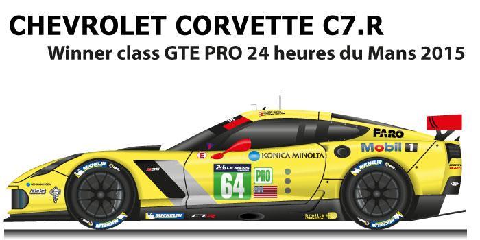 Chevrolet Corvette C7.R n.64 winner class GTE PRO 24 hours of Le Mans 2015
