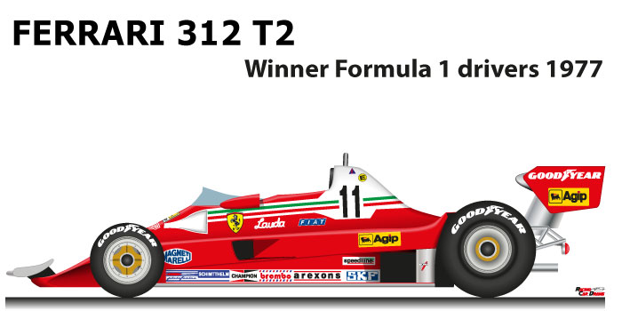 Ferrari 312 T2 n.11 winner Formula 1 World Champion 1977 with Niki Lauda