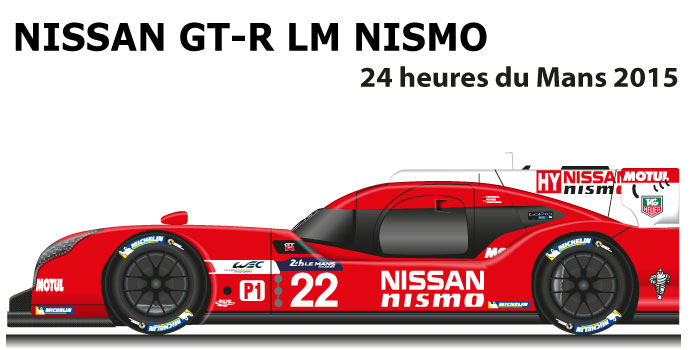 Nissan GT-R LM Nismo n.22 not classified at 24 Hours of Le Mans 2015