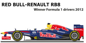 Red Bull - Renault RB8 n.1 winner Formula 1 World Champion with Vettel