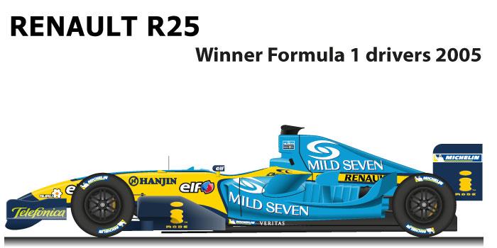 Renault R25 n.5 winner Formula 1 World Champion with Fernando Alonso