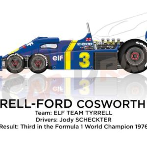 Tyrrell - Ford Cosworth P34 n.3 third in the Formula 1 World Champion 1976