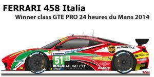 Ferrari 458 Italia n.51 winner class GTE PRO 24 Hours of Le Mans 2014