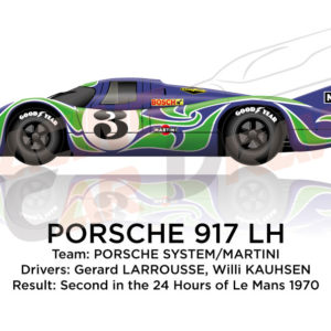 Porsche 917 LH n.3 second at the 24 Hours of Le Mans 1970