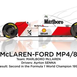 McLaren - Ford MP4/8 n.8 second in the Formula 1 World Champion 1993