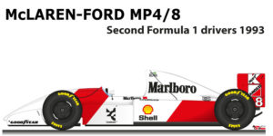 McLaren - Ford MP4/8 n.8 second at the Formula 1 World Champion 1993