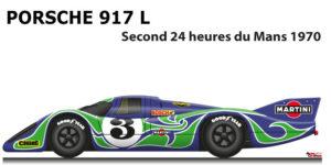 Porsche 917 L n.3 second at the 24 Hours of Le Mans 1970