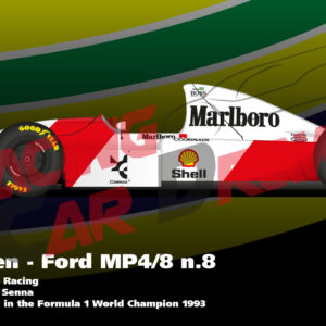 wallpaper mclaren - Ford Mp4/8 n.8 1993