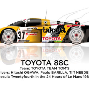 Toyota 88C n.37 twenty-four in the 24 hours of Le Mans 1988