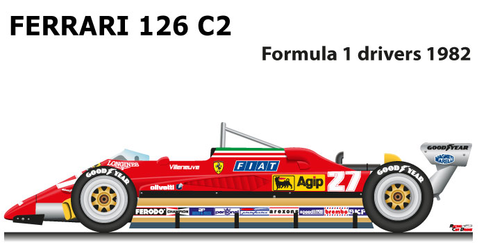 Ferrari 126 C2 n.27 Formula 1 World Champion 1982 with Villeneuve