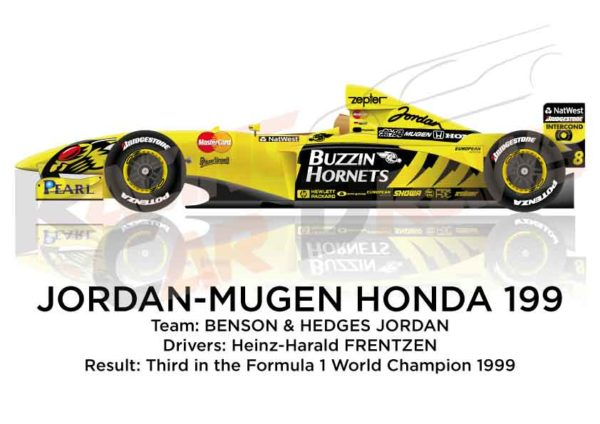 Image Jordan - Mugen Honda 199 n.8 third in the Formula 1 World Champion 1999