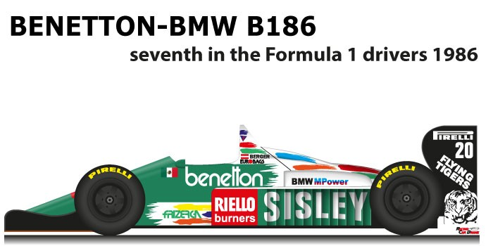Benetton - BMW B186 n.20 in thr seventh Formula 1 World Champion 1986