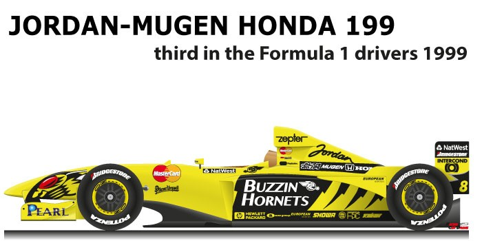 Jordan - Mugen Honda 199 n.8 third in the Formula 1 World Champion 1999