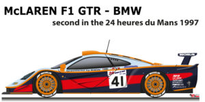 McLaren F1 GTR - BMW n.41 second in the 24 Hours of Le Mans 1997
