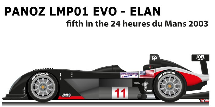 Panoz LMP01 Evo - Elan n.11 fifth in the 24 Hours of Le Mans 2003