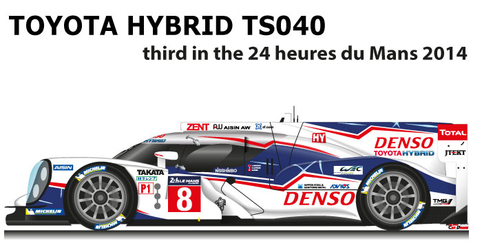 Toyota Hybrid TS040 n.8 third in the 24 Hours of Le Mans 2014
