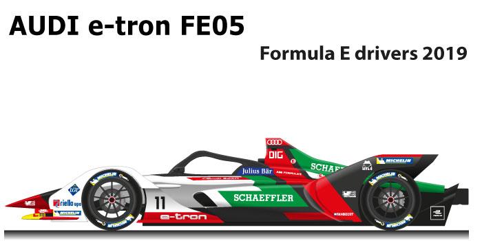 Audi e-tron FE05 n.11 Formula E World Champion 2019 with Di Grassi