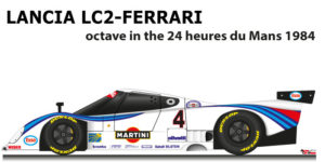 Lancia LC2 - Ferrari n.4 octave in the 24 Hours of Le Mans 1984