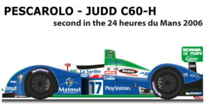 Pescarolo - Judd C60-H n.17 second in the 24 Hours of Le Mans 2006