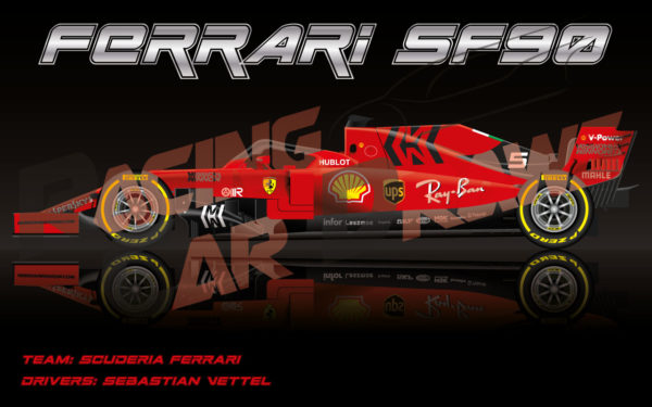 Wallpaper Ferrari SF90 n.5 2019