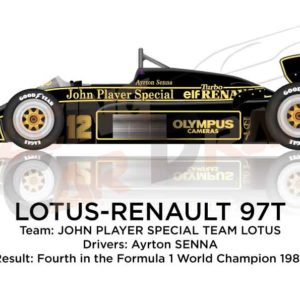 Lotus - Renault 97T n.12 fourth in the Formula 1 World Champion 1985