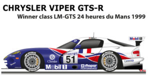 Chrysler Viper GTS-R n.51 winner class LM-GTS 24 Hours of Le Mans 1999