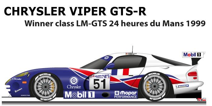 Chrysler Viper GTS-R n.51 winner class LM-GTS 24 Hours of Le Mans 1999