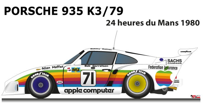 Porsche 935 K3/79 n.71 retired in the 24 Hours of Le Mans 1980