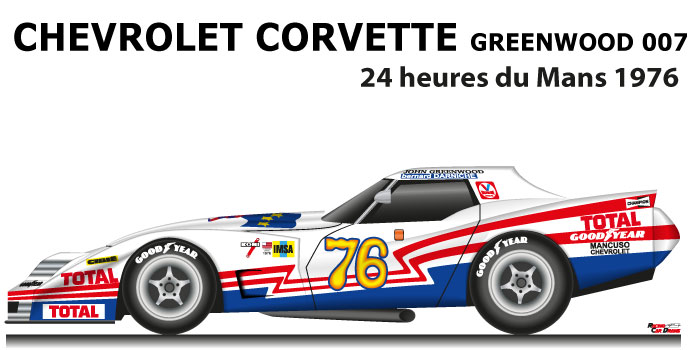 Chevrolet Corvette Greenwood 007 n.76 24 Hours of Le Mans 1976